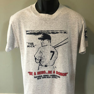 80s The Mick Yankees Shirt Mickey Mantle New York